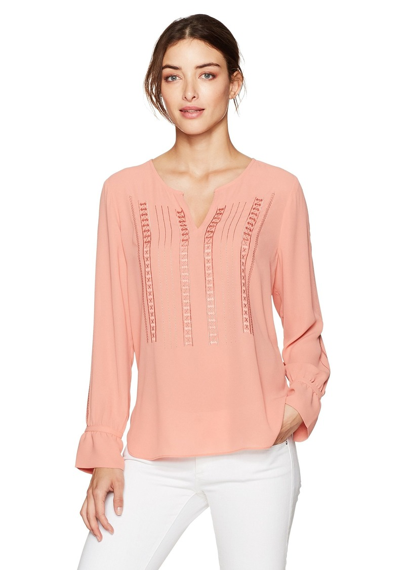 NYDJ Women's Embroidered Blouse