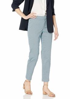 NYDJ Women's Everyday Trouser Pant san Miguel Tile Blue Daisy