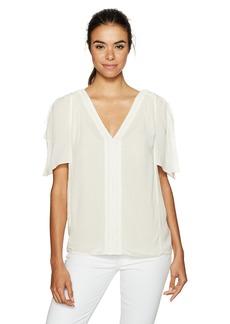 NYDJ Women's Flutter Sleeve Top