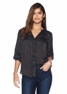 NYDJ Women's Garment Dye Blouse with Stud Details  S