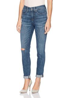 NYDJ Women's Girlfriend Jeans Newton with Knee Slit