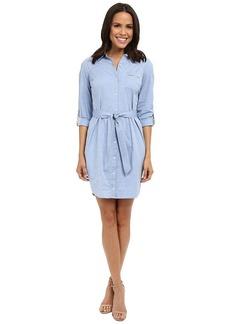 NYDJ Women's Kaylin Chambray Shirtdress with Detachable Shapewear