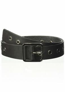 NYDJ Women's Leather Studs Belt - Prong Buckle Waist Belt for Fashion Jeans Pants Dresses