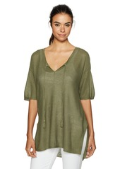 NYDJ Women's Linen Mesh Tunic
