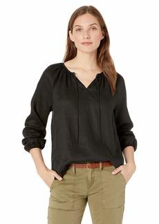 NYDJ Women's Linen Peasant Blouse  S