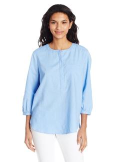 NYDJ Women's Linen Pleat Back Blouse