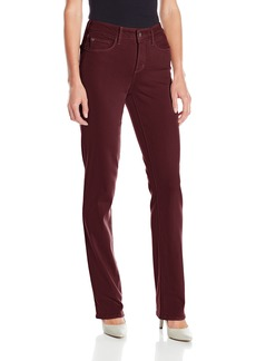NYDJ Women's Marilyn Straight Jeans in Luxury Touch Denim deep Currant