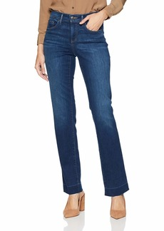 NYDJ Women's Marilyn Straight Leg with Release Pocket & Hem Jean MUIR