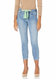 NYDJ Women's Misses Alina Skinny Ankle Jeans with Scarf Ties
