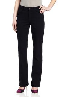 NYDJ Women's Petite Barbara Bootcut Jeans Black 6P