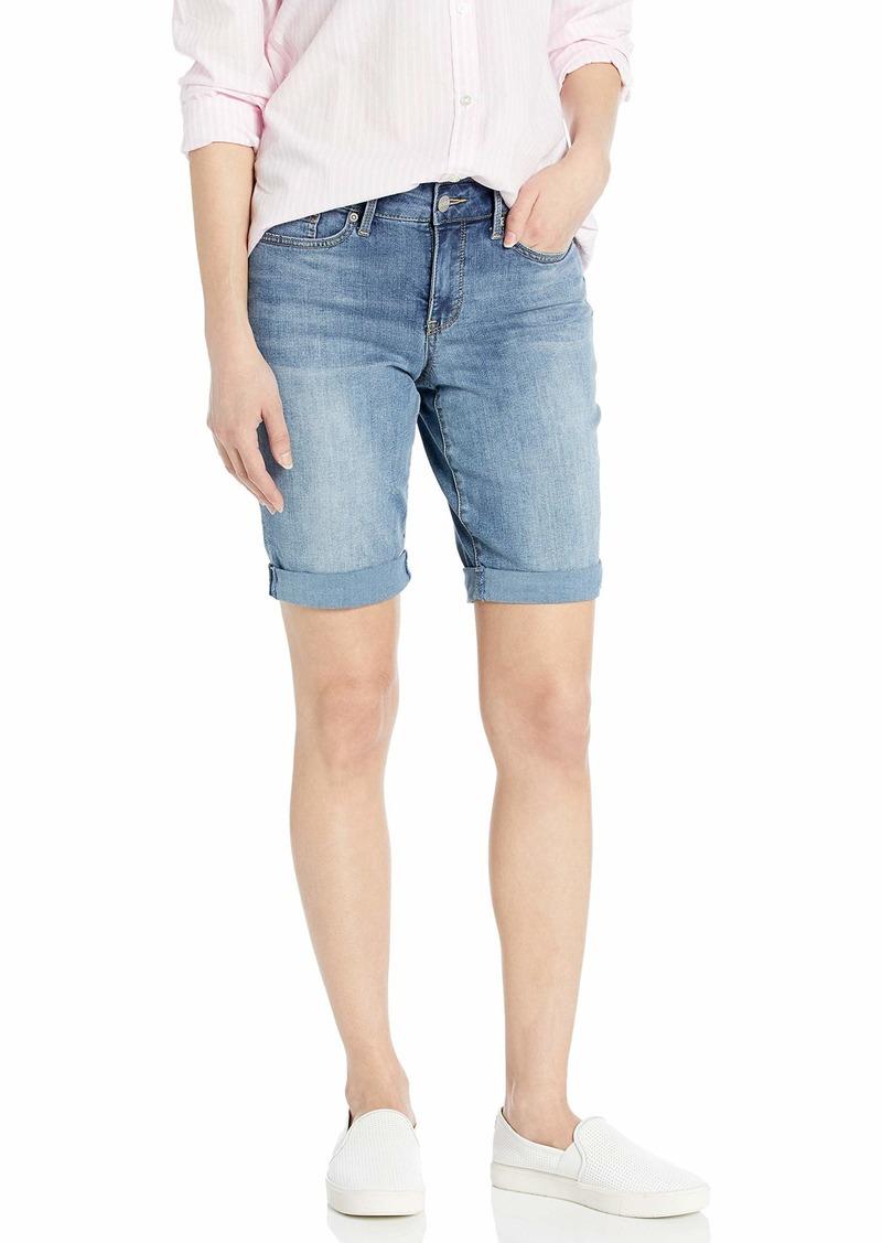 NYDJ Women's Petite Briella Roll Cuff Jean Short in Cool Embrace Denim CANO
