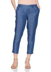 NYDJ Women's Petite Hidden Drawstring Linen Pant Andreas wash 0P