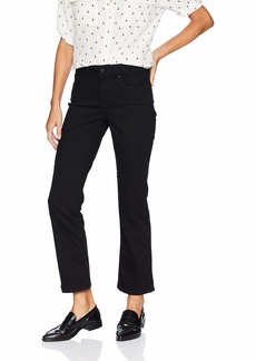 NYDJ Women's Petite Size Marilyn Straight Leg Jeans black 12P
