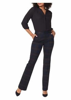 NYDJ Women's Petite Slim Ponte Knit Trouser Pants OAKLAN Plaid 0P