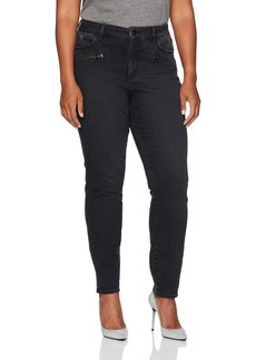 NYDJ Women's Plus Size Alina Legging Jeans in Future Fit Denim Campaign with Zippers