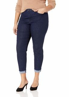 NYDJ Women's Plus Size AMI Skinny Ankle Jean with Cuff