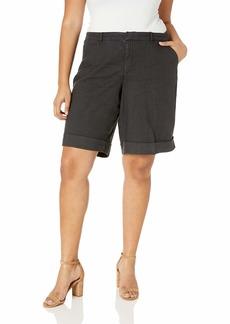NYDJ Women's Plus Size Bermuda Linen Short with ROLL Cuff  W