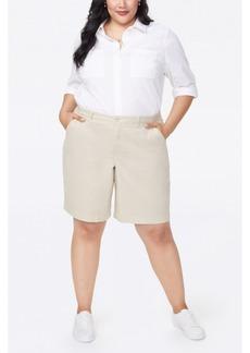 NYDJ Plus Size Bermuda Shorts in Stretch Twill