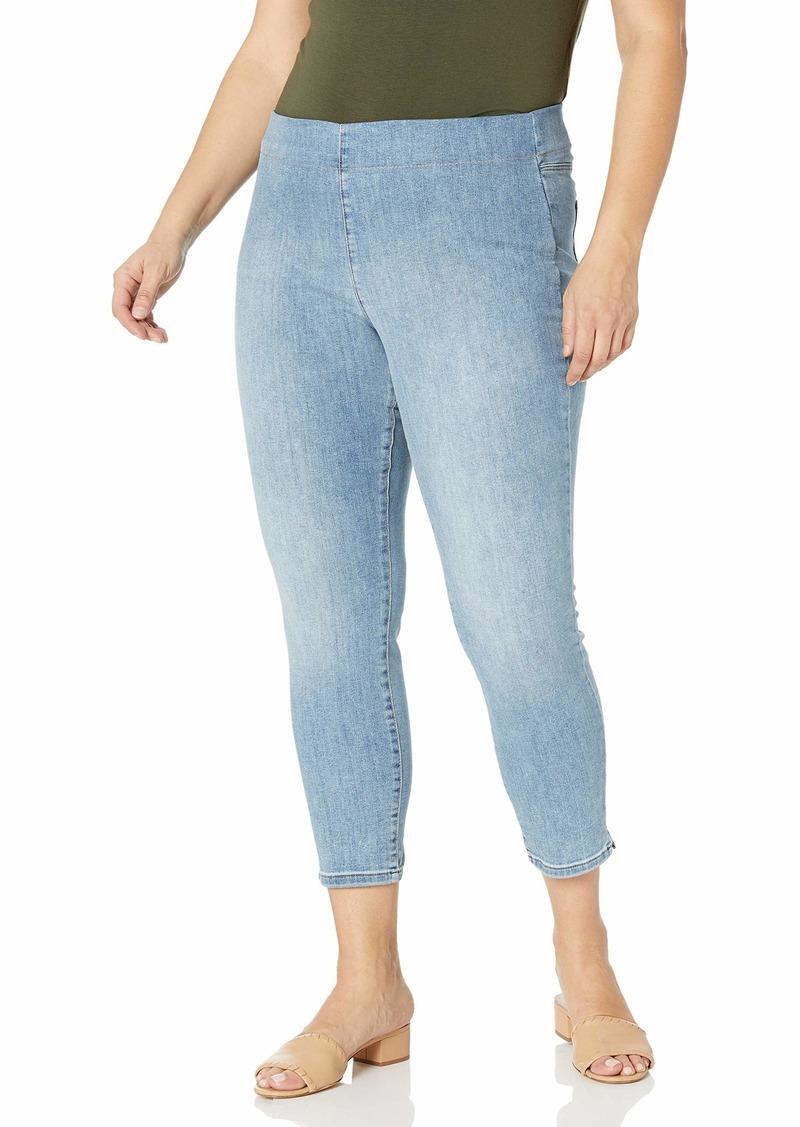 NYDJ Women's Plus Size Pull On Skinny Ankle Jean with Side Slit  W