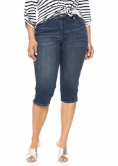 NYDJ Women's Plus Size Skinny Capri in Cool Embrace Denim JUNIPERO W