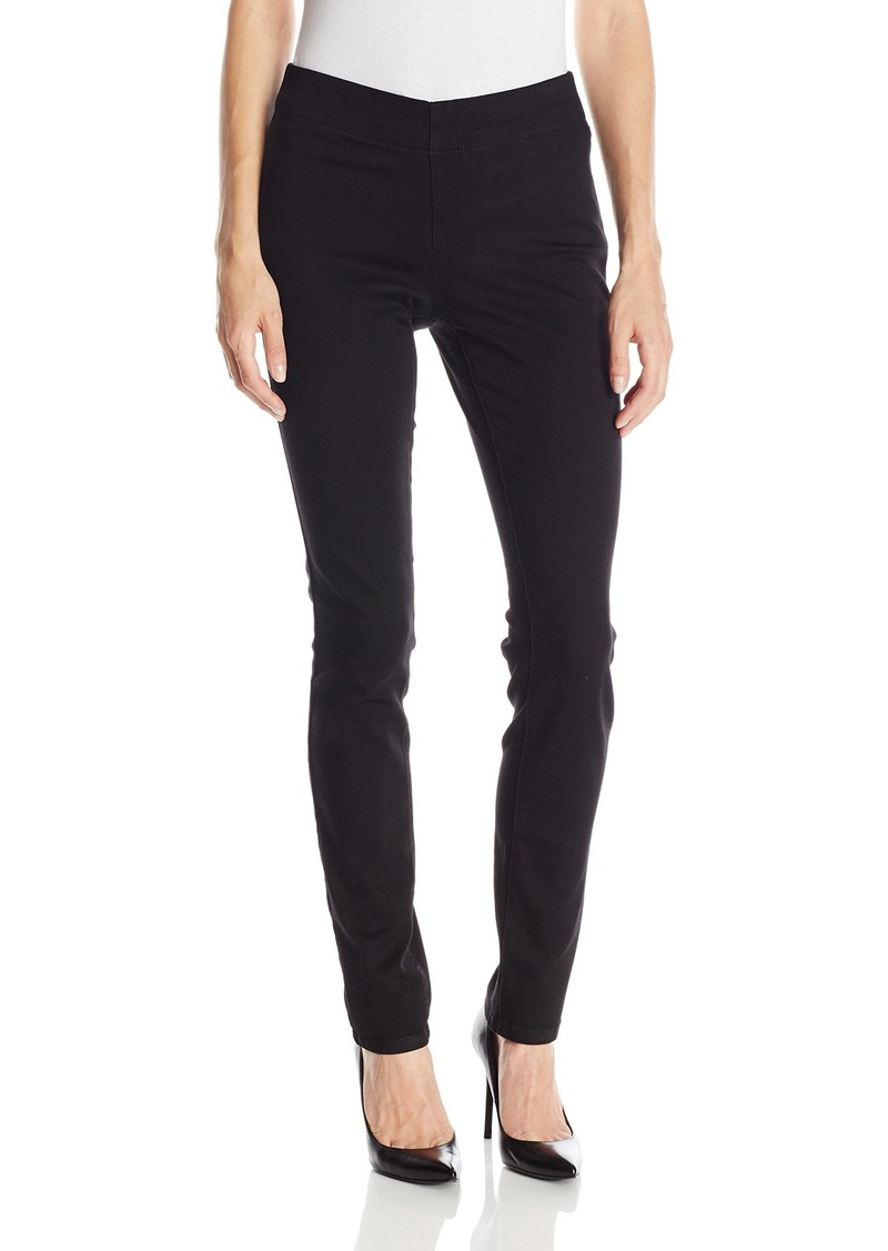 NYDJ Women's Poppy Pull On Legging Pants Black 2