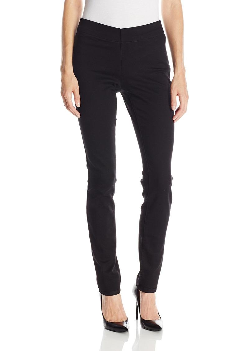 NYDJ Women's Poppy Pull On Legging Pants Black 2