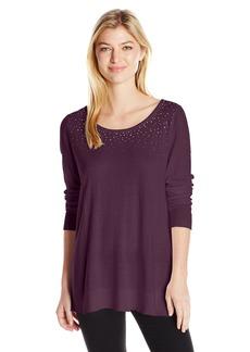 NYDJ Women's Scattered Rhinestone Sweater