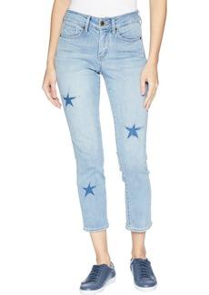 NYDJ Womens Sheri Ankle Laser Cut Starfish Jean