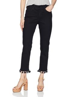 NYDJ Women's Sheri Slim Ankle With Tassle Hem Pants black