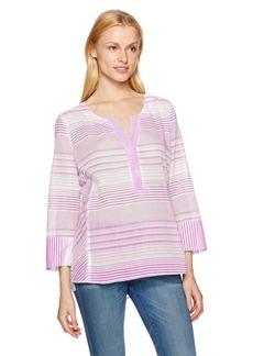 NYDJ Women's Striped Cotton Tunic