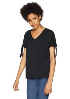 NYDJ Women's Tie Sleeve Tee  XL