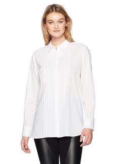NYDJ Women's Tuxedo Tunic Shirt  L