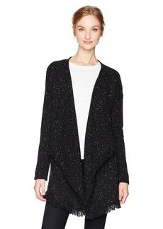 NYDJ Women's Tweed Cascade Sweater Cardigan