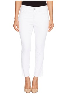 NYDJ Petite Alina Ankle with Fray Hem in Optic White