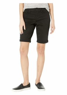 NYDJ Petite Briella Roll Cuff Shorts in Black