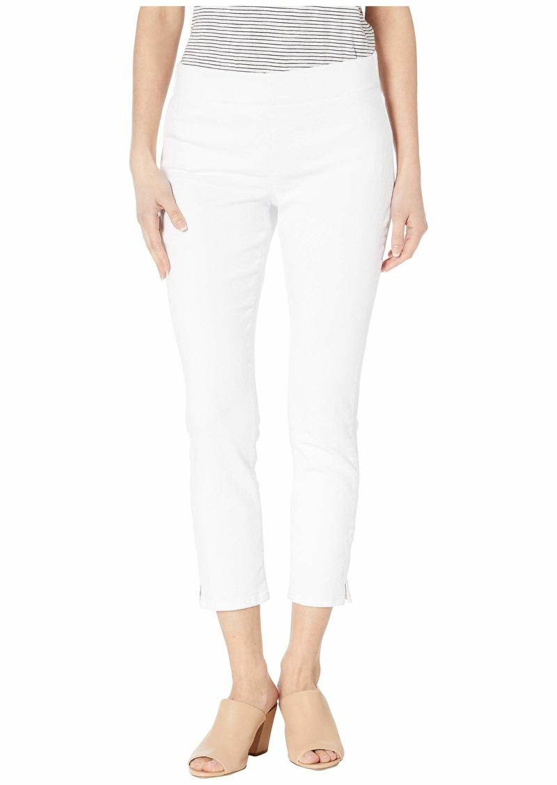 NYDJ Petite Pull-On Skinny Ankle Slits in Optic White