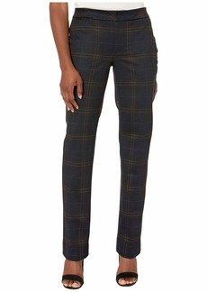 NYDJ Petite Slim Trousers in Oakland Plaid