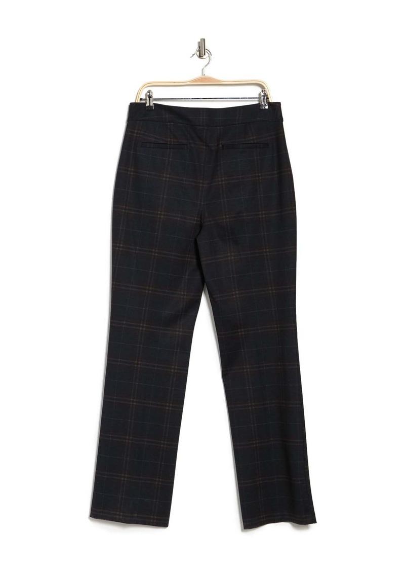 NYDJ Plaid High Rise Trousers