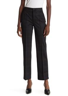 NYDJ Plaid Print Straight Leg Trousers (Petite)