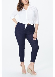 NYDJ Plus Size Skinny Ankle Pull-On Side Slit Jeans