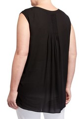 NYDJ Plus Size Sleeveless Paisley Button-Front Blouse