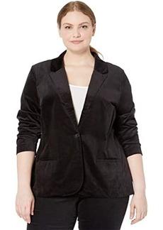 NYDJ Plus Size Velvet Blazer