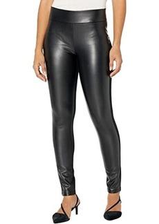 NYDJ Ponte/Faux Leather Leggings in Black