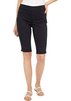 "NYDJ Pull-On 12.5"" Denim Bermuda Shorts in Black"