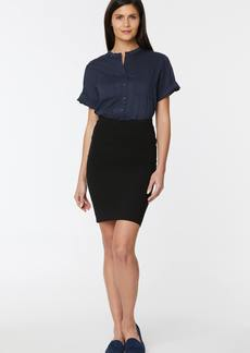 NYDJ Pull-On Pencil Skirt With Welt Details - Jet Black - M - Also in: S, L, XL