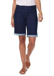 NYDJ Pull-On Rolled Cuff Bermuda Shorts
