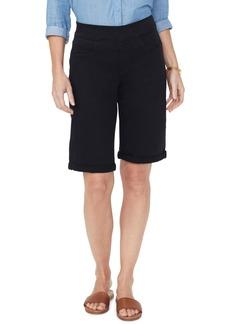 NYDJ Pull-On Rolled Bermuda Shorts