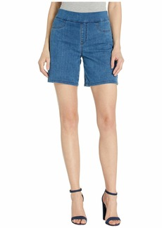 NYDJ Pull-On Shorts w/ Side Slit in Peralta