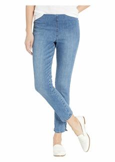NYDJ Pull-On Skinny Ankle w/ Side Slit in Aquino