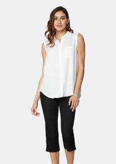 NYDJ Sleeveless Camp Shirt - Optic White - XL - Also in: M, S